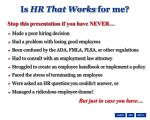 is hr that works for me