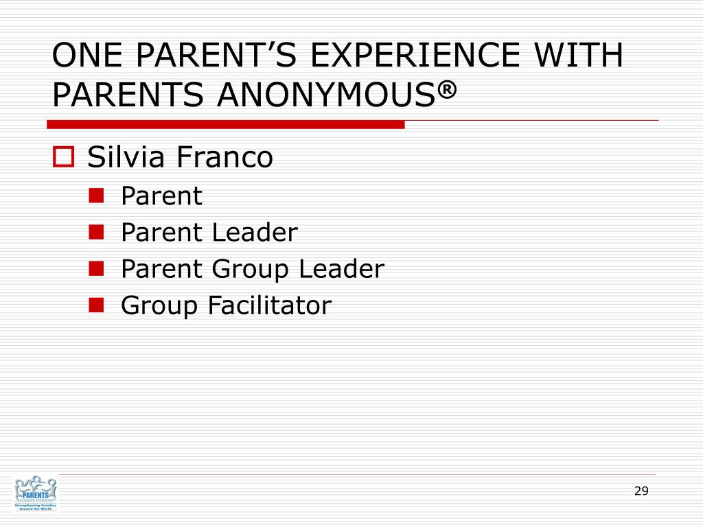 ONE PARENT'S EXPERIENCE WITH PARENTS ANONYMOUS