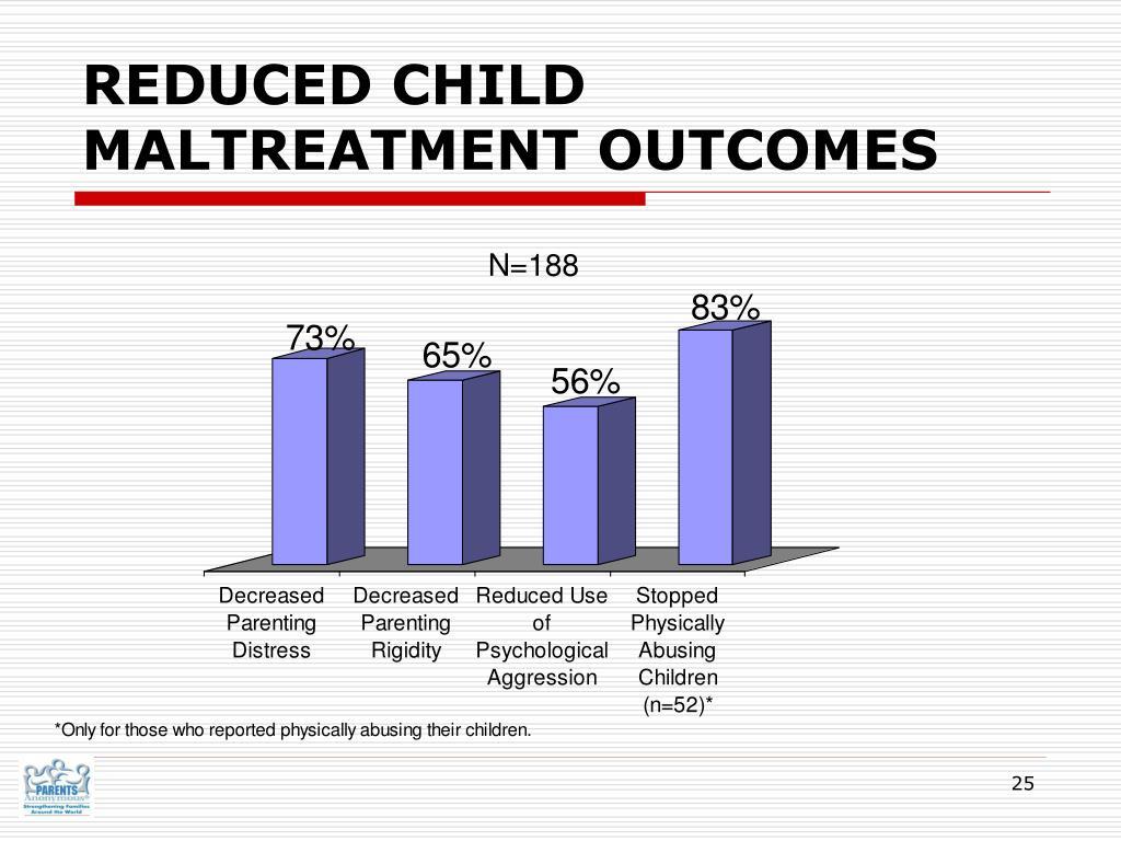 REDUCED CHILD MALTREATMENT OUTCOMES