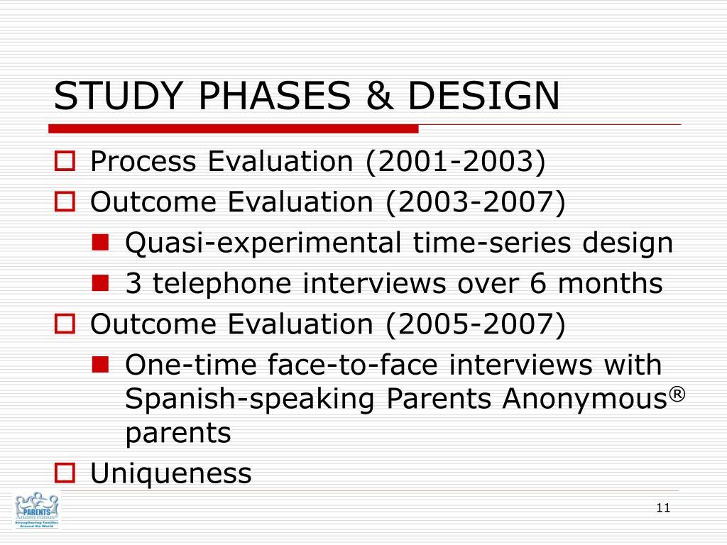 STUDY PHASES & DESIGN