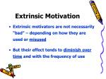 extrinsic motivation