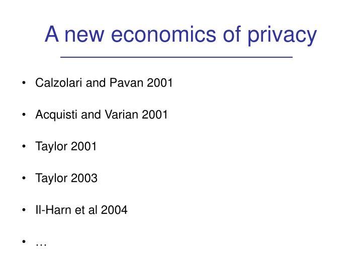 A new economics of privacy