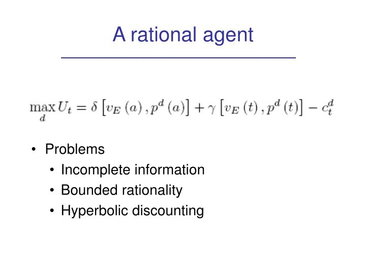 A rational agent