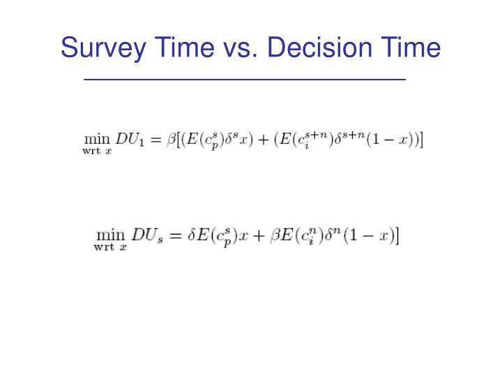 Survey Time vs. Decision Time