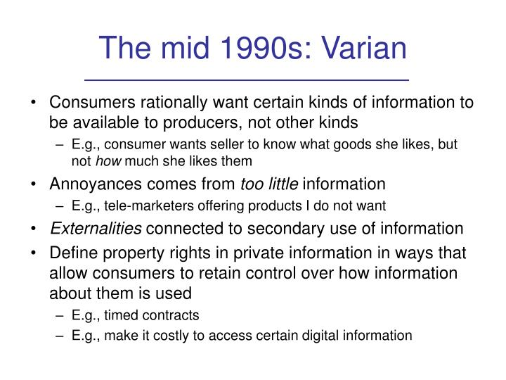 The mid 1990s: Varian