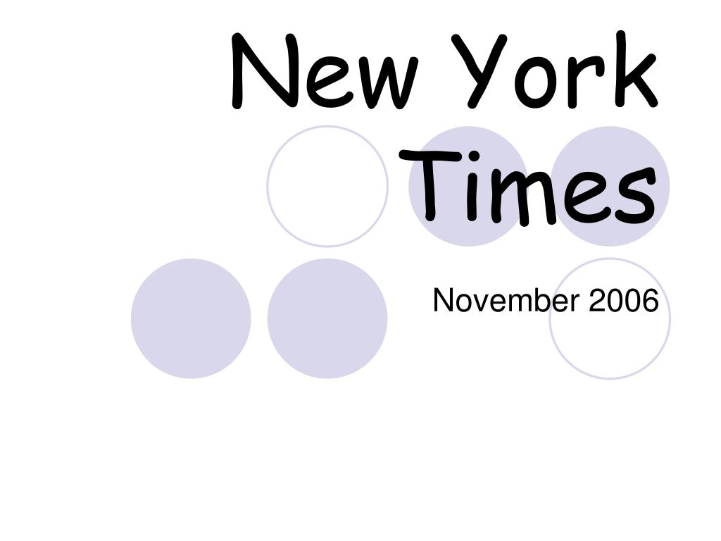 new york times l.