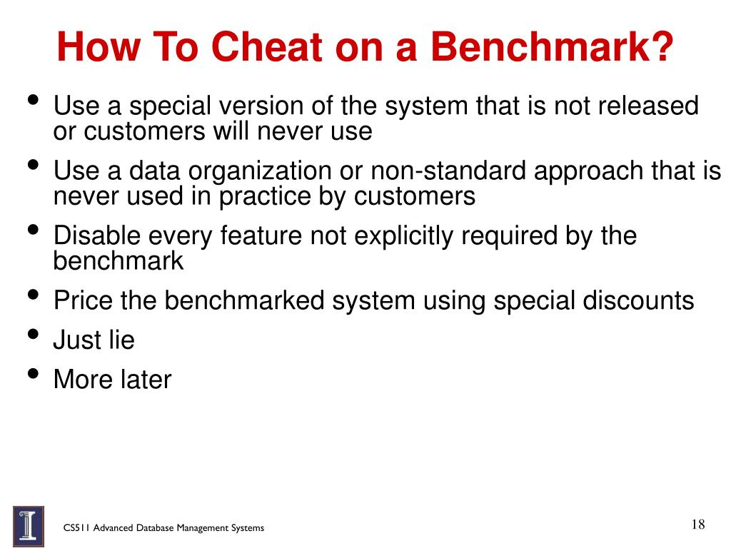 How To Cheat on a Benchmark?