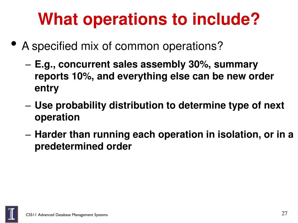 What operations to include?