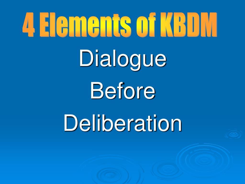 4 Elements of KBDM