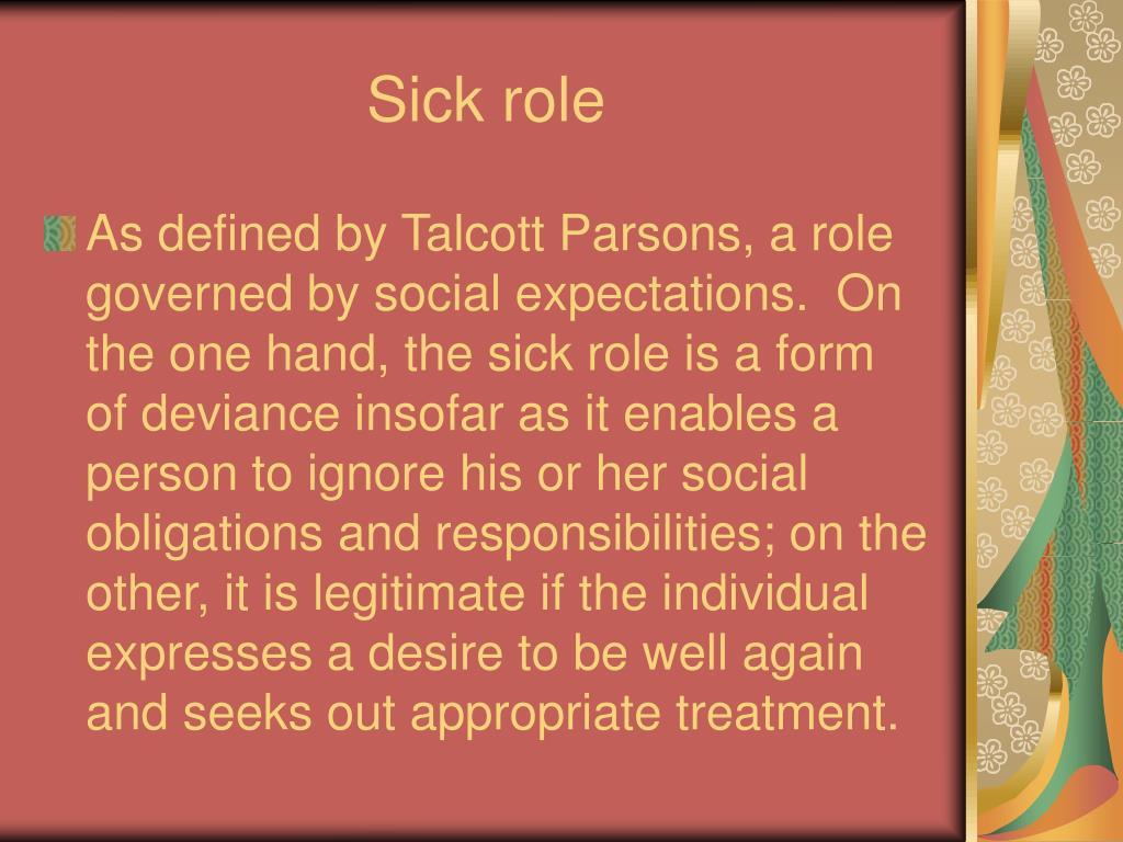 Sick role