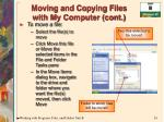 moving and copying files with my computer cont24