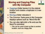 moving and copying files with my computer