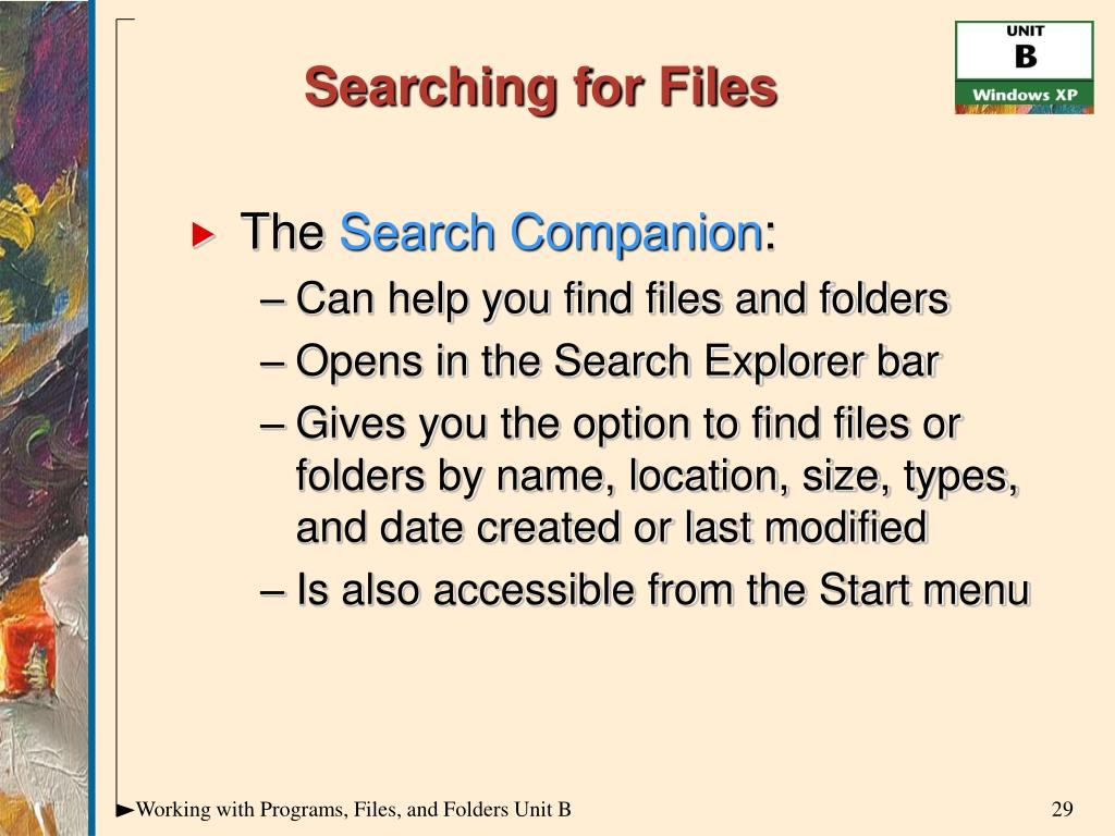 Searching for Files