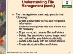 understanding file management cont