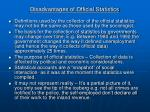 disadvantages of official statistics16