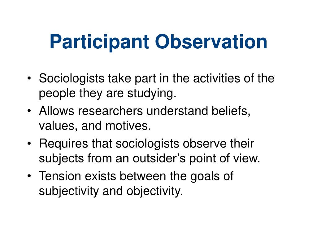 observation sociology