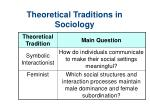 theoretical traditions in sociology15