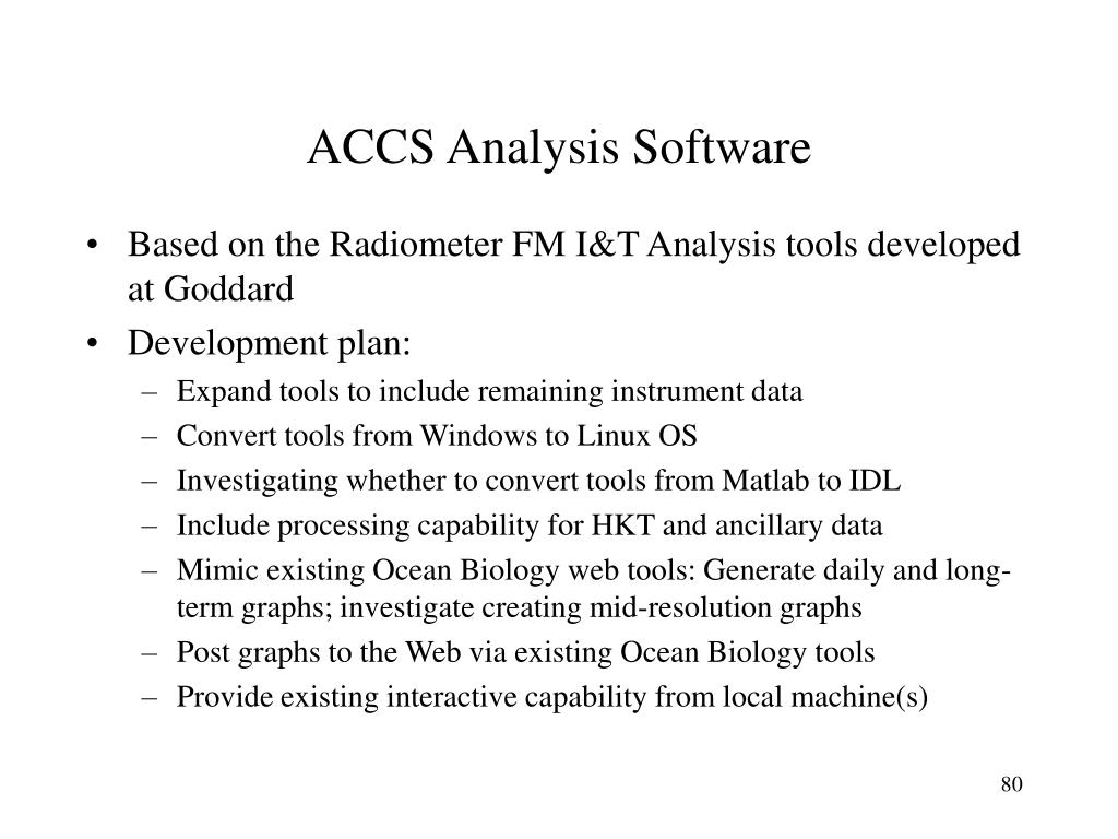 ACCS Analysis Software