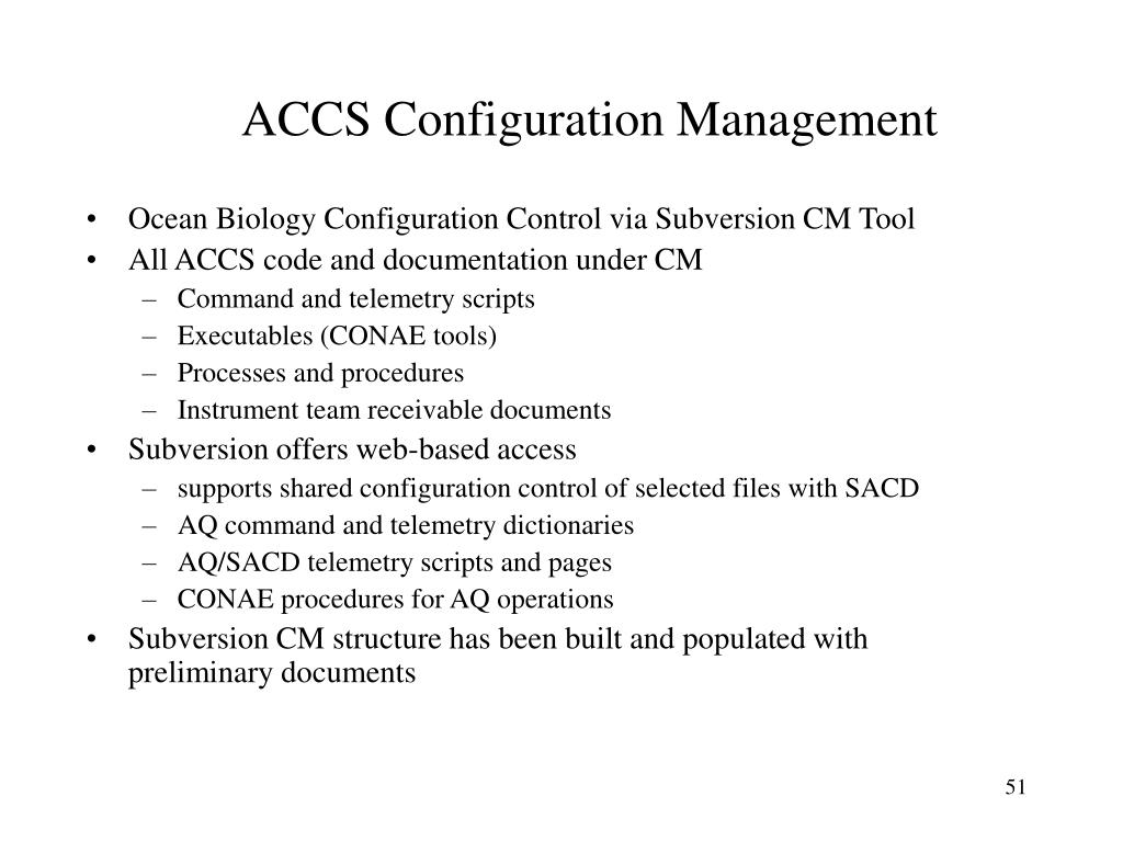 ACCS Configuration Management