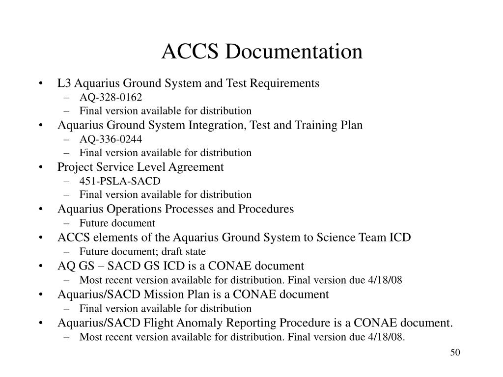 ACCS Documentation