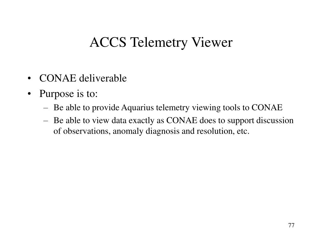ACCS Telemetry Viewer