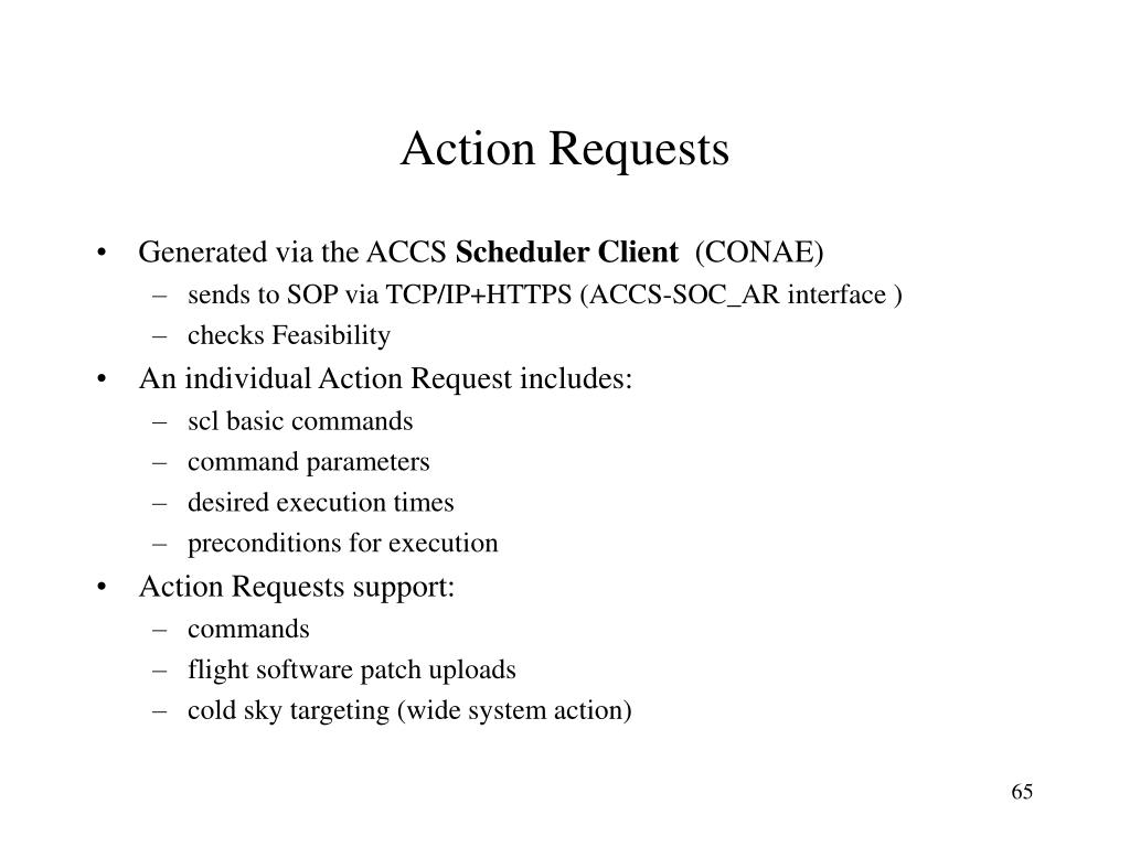 Action Requests