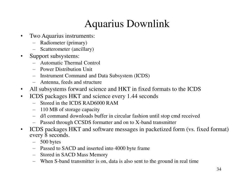 Aquarius Downlink