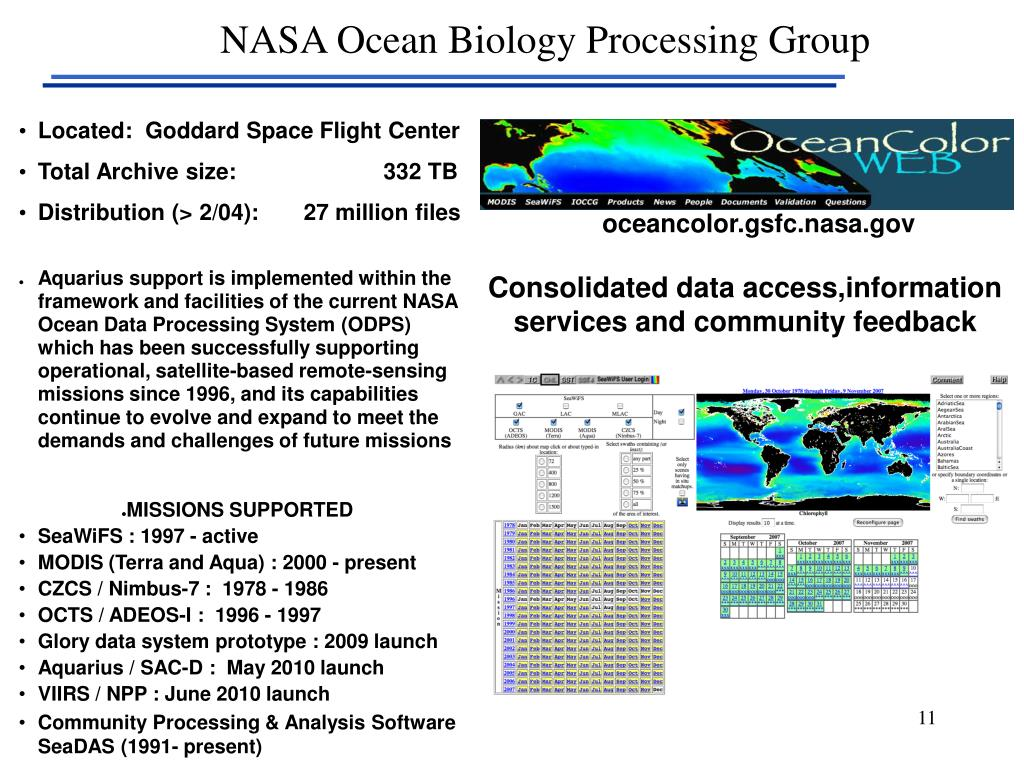 NASA Ocean Biology Processing Group