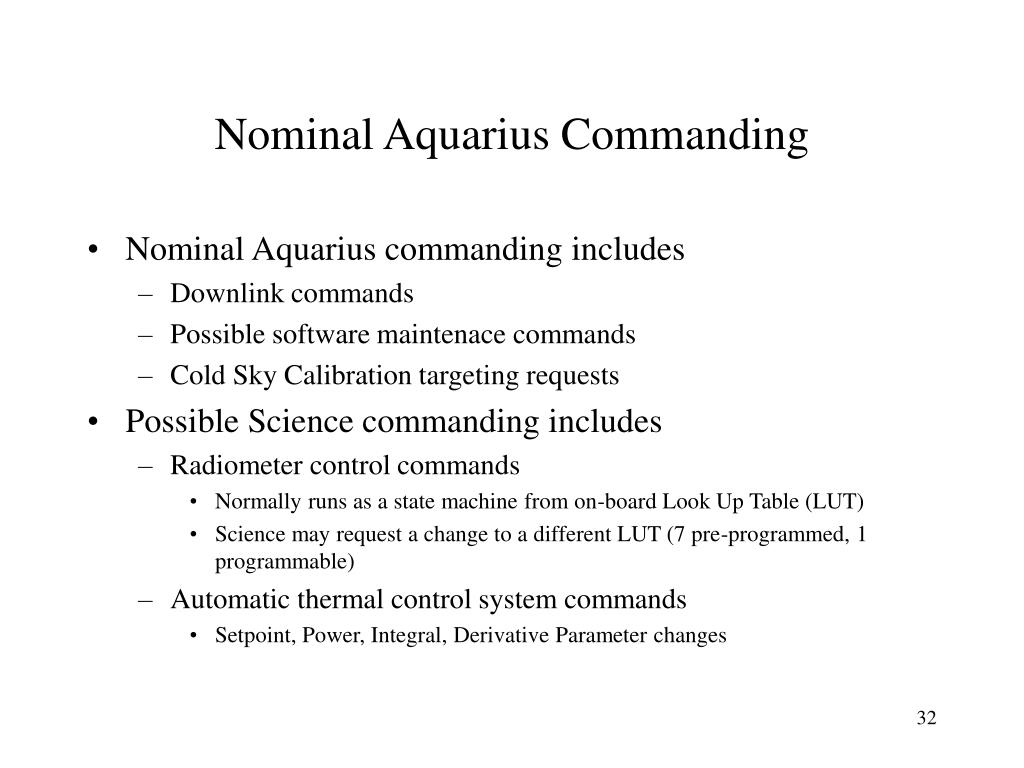 Nominal Aquarius Commanding