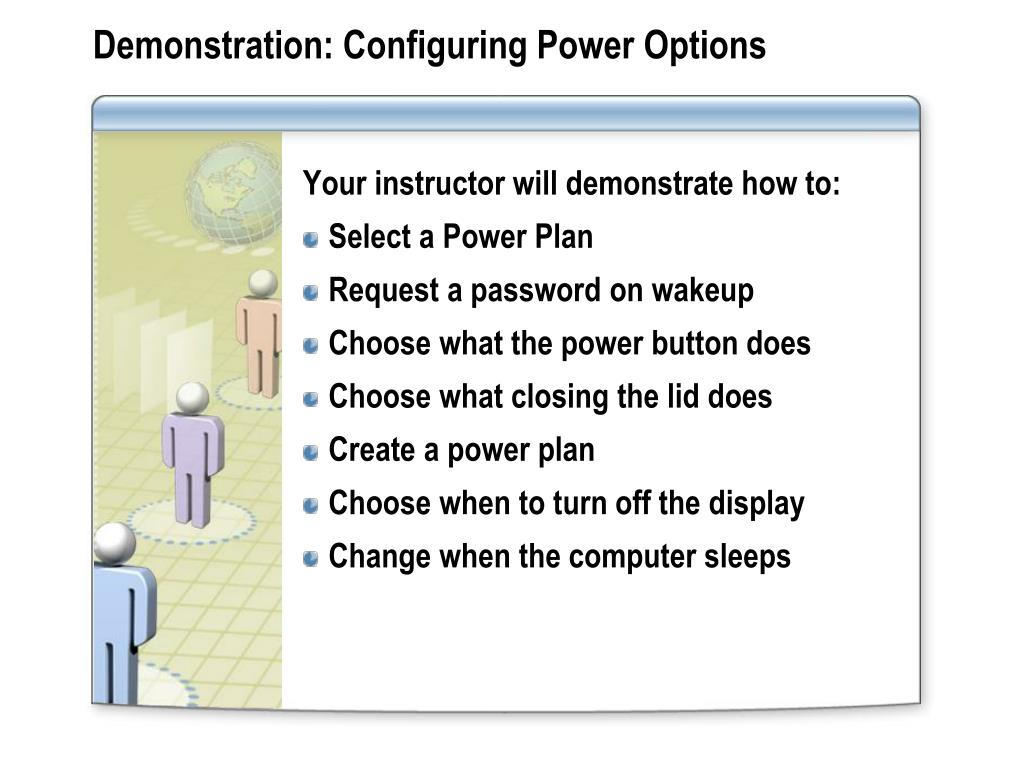 Demonstration: Configuring Power Options