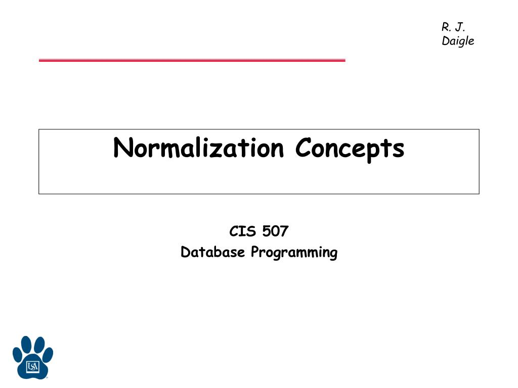 Normalization Concepts