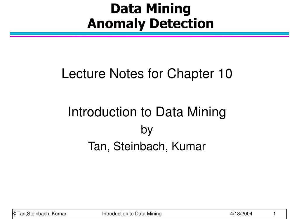 data mining anomaly detection l.