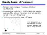 density based lof approach