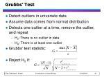 grubbs test