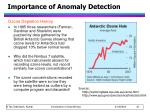 importance of anomaly detection