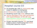hospital course d3