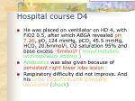 hospital course d4