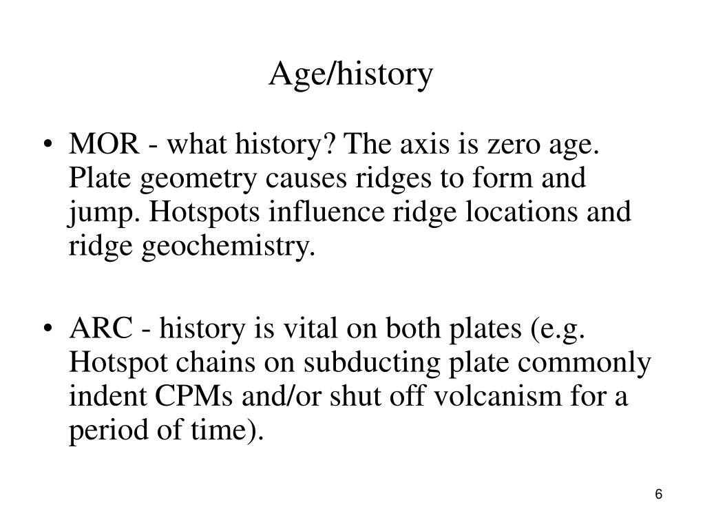 Age/history