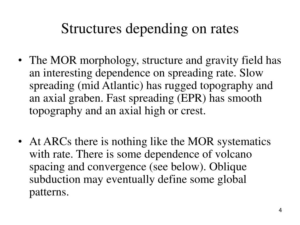 Structures depending on rates