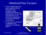 midlatitude polar transport
