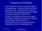 tropopause fold model