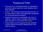 tropopause folds