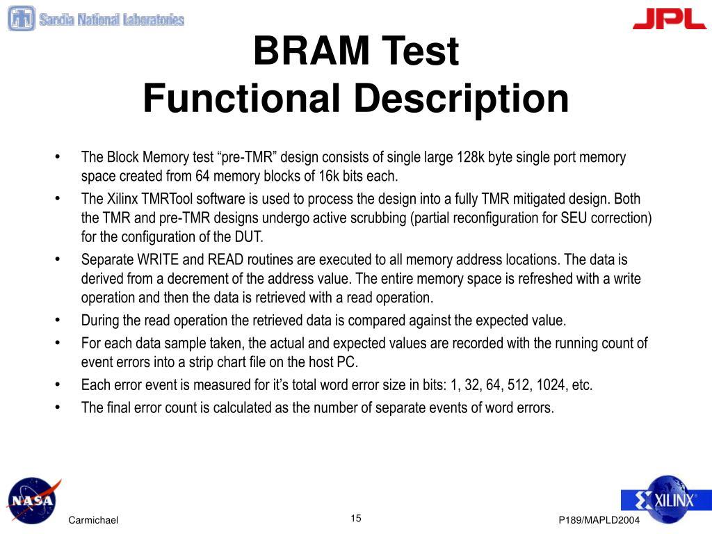BRAM Test