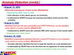anomaly detection contd