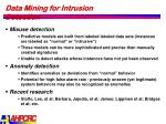 data mining for intrusion detection