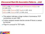 discovered real life association patterns ctd23