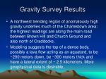 gravity survey results