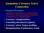 anomalous coronary artery connection31