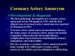 coronary artery aneurysm