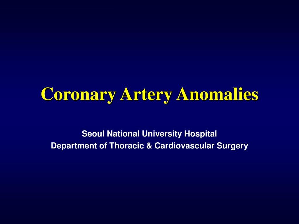 coronary artery anomalies l.